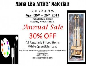Mona Lisa Annual Sale Flyer 2014