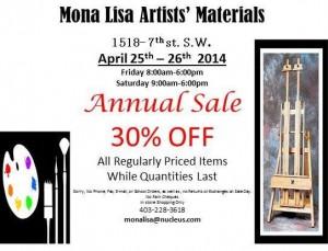 Mona Lisa Annual Sale Flyer 2014